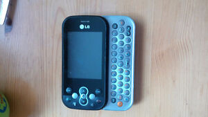 LG Neon Text Keyboard Cell Phone
