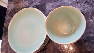 Beautiful plates and soup bowls for sale!