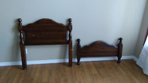 Headboard and footboard