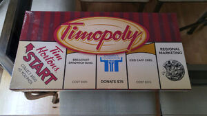 """Tim Horton's """"Timopoly"""" Board Game Factory Sealed"""