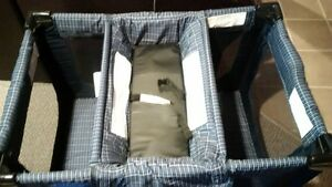 Playpen with change table and bassinet