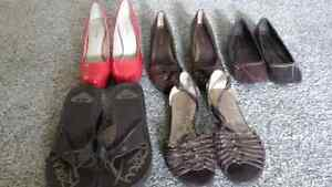 Shoes Sizes 6-7  $5 each, except Pink $8