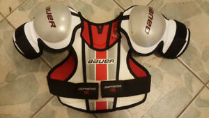 Chest protector and jock shorts for 7-8 year old.
