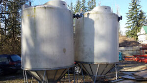 Cone Bottom Poly Tanks c/w Stand