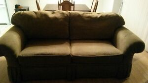 Nice light brown couch/ love seat