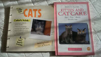 Two books on cats and kittens.