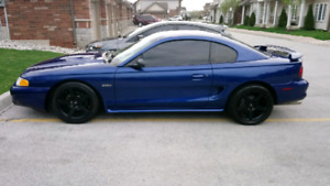 Trade black mustang cobra rims for chrome rims