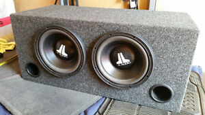 JL 10W3-D6 Subwoofers with Ported Box Bass 1000watts Speakers