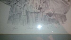 Robert Aucoin 1983 pencil etching of Uncle Ross Kingston Kingston Area image 2