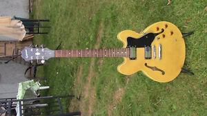 Epiphone 335  Blonde in great shape. Plays fantastic!