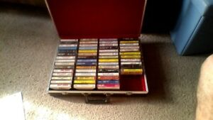 55 Classic Country/Western Cassette tapes with carry case