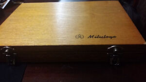 Vintage Machinist Tools Depth Micrometer (New) with Case
