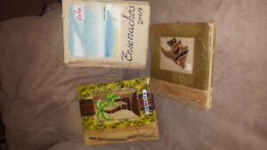 Homemade photo albums from the Caribbean