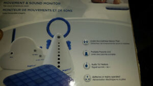 Angle care baby monitor sound and motion.