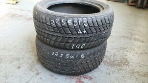 Pair of 2 Nexen Winguard 225/50R16 WINTER tires (85% tread life)