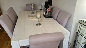 Large 8 seater table and chairs