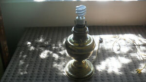 B&H 19th Century Oil Lamp - electrified
