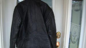 real good quality black leather jacket size 54 xl-xxl