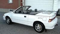 1992 Geo Metro gris Cabriolet