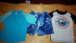 Swim Shorts and 2 Swim Shirts