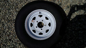 ST 175/80 R13 WHITE STEEL RIMS AND TIRES London Ontario image 1