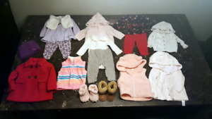 Baby Girl Winter Lot Sz 3 - 6 month Clothing