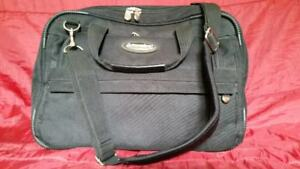 BLACK, HEAVY CANVAS LAPTOP BAG.....  LOCATED IN AMHERST