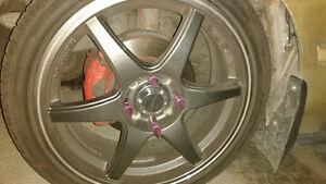 brand new tires on mint shape rims. Kawartha Lakes Peterborough Area image 1