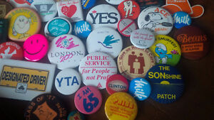 Collectible Pin-Back Buttons - Approximately 80 Kitchener / Waterloo Kitchener Area image 5
