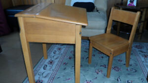 Retro Childs School Desk and Chair