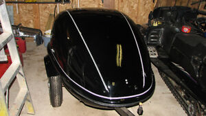 Tow behind cargo trailer for motorcycle or small car
