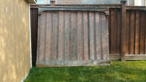 6ft pressure treated wood fence panels- 7 panels - 6/7 ft wide