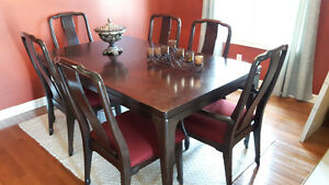 Dining table set real wood $300 obo