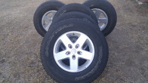 Nearly New for a lot less. Jeep rims and tires