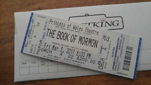 3 tickets to book of mormon march 3rd