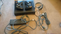 XBOX 360 with Kinect, Rock Band Instruments, and 14 games