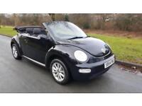 Volkswagen Beetle 1.6 2005 CONVERTIBE, IN JET BLACK, POWER HOOD,