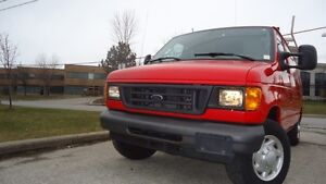 2007 FORD E150 CARGO WITH LADDER RACK