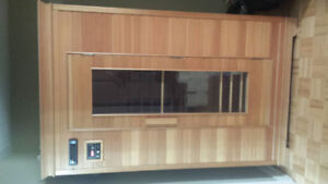 2 Person Infrared Wood Sauna. Like New.