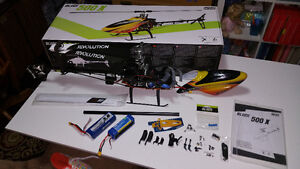 Blade 500X heli, upgraded, 2 batteries