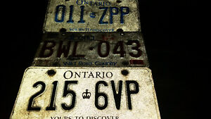 3 old vintage license plates only $5 each see my other ads......