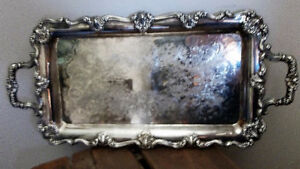 ANTIQUE SILVER TRAY WITH BEAUTIFUL DESIGN Kitchener / Waterloo Kitchener Area image 1