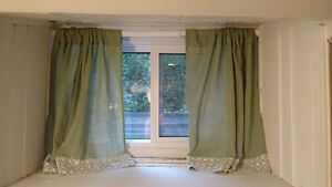 Curtains and Rods for Basement Windows