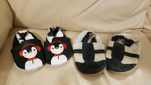 2 Pairs of Toddler Leather Shoes