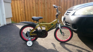 Great condition boy bike with training wheel