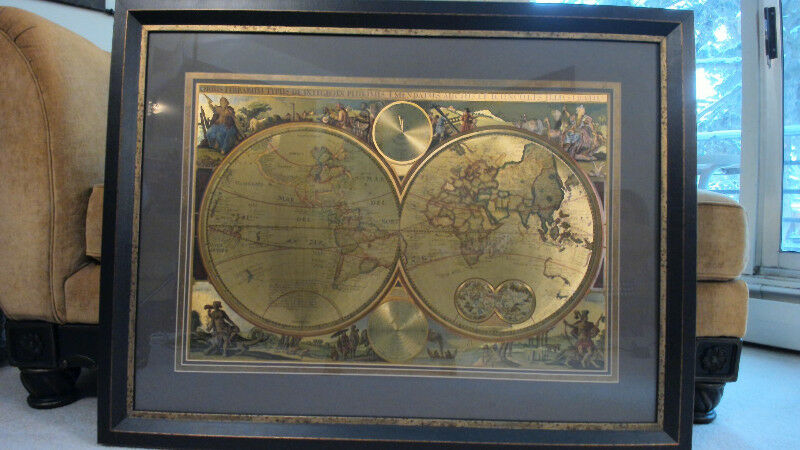 Bombay company framed matted double hemisphere foil old world listing item gumiabroncs Images