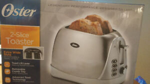 Brand New Stainless Steel Oster 2-Slice Toaster