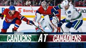 Billets canucks habs 3 janvier rouge section 115