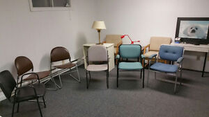 PLENTY OF OFFICE SUPPLIES- CHAIRS - VACCUM - TABLES - TYPEWRITER