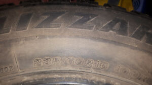 235/60R16 Blizzak Winter tires